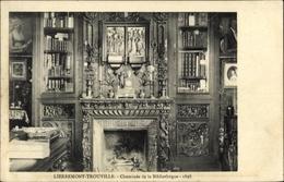 Cp Lierremont Trouville Eure, Cheminée De La Bibliothèque - Other Municipalities