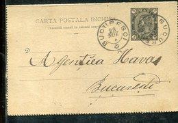 Rumaenien / 1892 / Kartenbrief O (3389) - Postal Stationery
