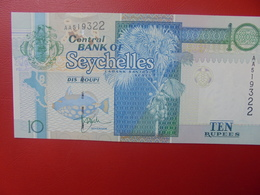 SEYCHELLES 10 RUPEES 1998-2013 PEU CIRCULER/NEUF (B.10) - Seychelles