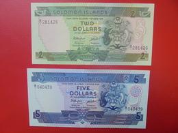SOLOMON ISLANDS 2+5$  PEU CIRCULER/NEUF (B.10) - Solomon Islands