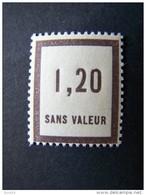 FICTIFS NEUF ** N°F 50 SANS CHARNIERE (FICTIF F50) - Fictie