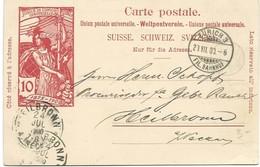 240 - 73- Entier Postal UPU Envoyé De Zürich En Allemagne 1900 - Interi Postali