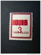 FICTIFS NEUF ** N°F 62 SANS CHARNIERE (FICTIF F62) - Fictie