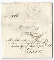DA FERMO A ROMA - 11.4.1819 - TESTO INTERESSANTE. - Italia