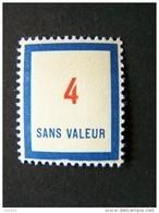 FICTIFS NEUF ** N°F 81 SANS CHARNIERE (FICTIF F81) - Phantomausgaben