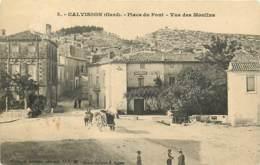 30 , CALVISSON , Place Du Pont , Vue Des Moulins , * 433 74 - Frankreich