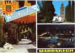 Marrakesch Mehrbildkarte Strassenszene 1995 - Marrakech