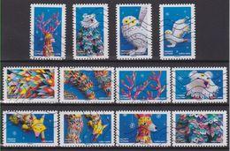 SÉRIE COMPLÈTE 12 TIMBRES 2019 FANTASTIQUE - Used Stamps