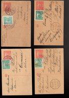 1920 Entier Hradcany 20 H Cdv 16 : 4 Pieces Avec Complement Suite Changement Tarif - Cartes Postales