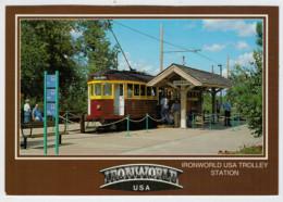 U.S.A.   STATI UNITI     TREIN- ZUG- TRAIN- TRENI- GARE- BAHNHOF- STATION- STAZIONI    2 SCAN  (NUOVA) - Treni