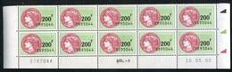 Timbre Fiscal (fiscaux) - SFU N° 510 Neuf - Bas De Feuilles De 10 Timbres - Coin Daté Du 10 Mai 2000 - Fiscali