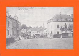 Kleinbettingen - Reproduction !!!  2 Scans - Rue De La Gare - Postales