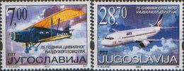 Yugoslavia 2002 Civil Aviation - 75th Anniversary, MNH (**) Michel 3079-3080 - Ungebraucht