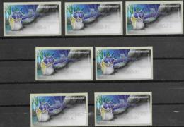 PORTUGAL , 2019, MNH, ATM LABELS, MARINE LIFE, NUDIBRANCHS,  III, 7v - Meereswelt