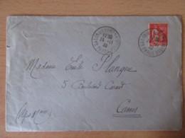 Cachet Salon De L'Aéronautique Paris 24 Novembre 1932 Sur Enveloppe Vers Cannes - France