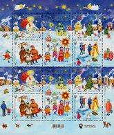 Ukraine - 2019 - Happy Holidays - Christmas, New Year, St.Nicholas, Baptism - Mint Miniature Stamp Sheet With Hot Foil - Ucrania