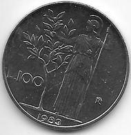 *italy 100 Lire 1983  Km 96.1  Unc/ms63 !!! - 1946-… : Republic