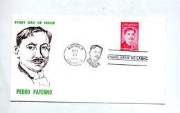 Lettre Fdc 1973 Paterno - Filippijnen