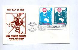 Lettre Fdc 1974 Congres Pediatrique - Filippijnen