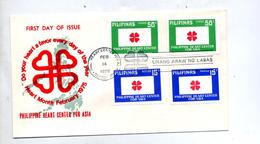 Lettre Fdc 1975 Centre Coeur - Filippijnen