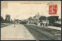 Sainte-Gauburge (Orne) - La Gare Intérieure - Edition Pasquis, Laigle - Voir 2 Scans - Altri Comuni