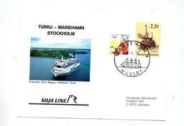 Carte  Cachet Mariehamn  Sur Bateau Silja Line - Finlandia