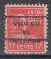 USA Precancel Vorausentwertung Preo, Bureau Missouri, Kansas City 822-71 Dated - Vereinigte Staaten