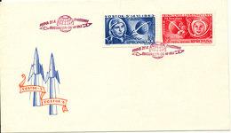 Romania FDC 6-7-1963 Vostok 5 & 6 Bikovski & Tereskova  Complete Set Of 2 With Cachet - FDC & Commémoratifs