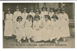 CPA-Carte Postale-Etats Unis- Co. Red Cross Canteen Omaha -1918??-VM10765 - Health
