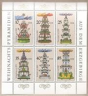 DDR - Serie Completa In Blocco Nuova MICHEL 3134/9: Piramidi Di Natale Da Erzgebirge - 1987 * G - Nuovi