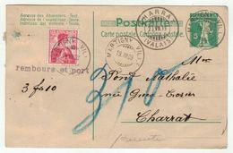 Suisse // Schweiz // Switzerland // Entier Postaux //  Entier Postal Pour Charrat Au Départ De Martigny-Ville - Ganzsachen