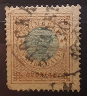 SVERIGE SWEDEN SUEDE ,1872,  ,Yvert No 25 B, 1 R Bistre Et Bleu   Obl STOCKHOLM PAKET , BTB Cote 90 Euros - Oblitérés