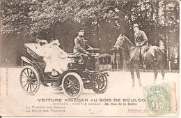 PARIS (75) Voiture KRIEGER Au Bois De Boulogne En 1907 (La Voiture Des Reines - La Reine Des Voitures) - Voitures De Tourisme