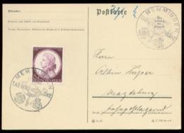 P0640 - DR Postkarte : Gebraucht Mit Sonderstempel Tag Der Briefmarke ,Memmingen  1942 - Brieven En Documenten