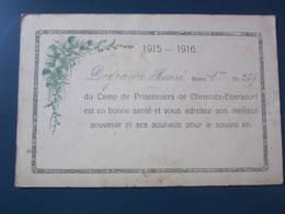 Carte Postale Guerre 14/18 Correspondance Du Camp De Prisonniers De Chemnitz-Ebersdorf - Weltkrieg 1914-18