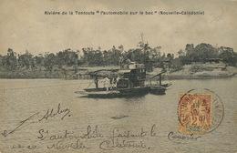 Rivière Tontouta . Automobile Postale Sur Le Bac . Ferryboat With Mail Car. Used Type Groupe Stamp - Nouvelle-Calédonie