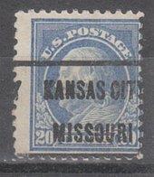 USA Precancel Vorausentwertung Preo, Locals Missouri, Kansas City 1917-L-19 E - Vereinigte Staaten