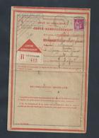 CARTE REMBOURSEMENT SUR TIMBRE PAIX R LIEUSAINT À Mr MIEARIENVAL À EPINAY SUR SÉNART PAR BRUNOY 1933 : - 1932-39 Paz