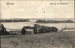 Cp Süderhaff Dänemark, Blick Auf Die Ochseninseln, Haus Am Wasser, Anlegestelle - Danemark