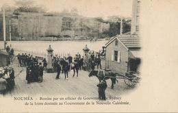 Noumea .  Sydney Governor Officer Delivering One Letter To French Governor . Undivided Back - Nouvelle-Calédonie
