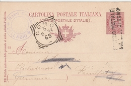 Italie Entier Postal Como Pour L'Allemagne 1894 - 1878-00 Umberto I