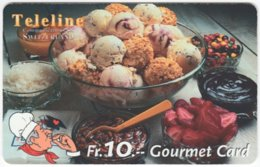 SWITZERLAND C-810 Prepaid Teleline - Food, Sweet, Cake - Used - Suiza