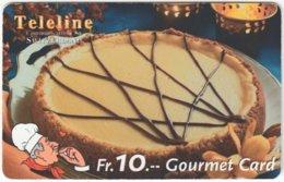 SWITZERLAND C-811 Prepaid Teleline - Food, Sweet, Cake - Used - Suiza