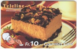SWITZERLAND C-816 Prepaid Teleline - Food, Sweet, Cake - Used - Suiza