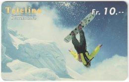 SWITZERLAND C-843 Prepaid Teleline - Leisure, Freestyle-skiing - Used - Suisse