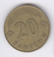 LATVIA 1992: 20 Santimi, KM 22.1 - Lettonie