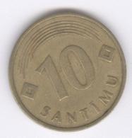 LATVIA 1992: 10 Santimi, KM 17 - Letonia