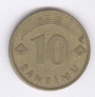 LATVIA 1992: 10 Santimi, KM 17 - Lettonie