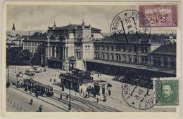 CSSR - Brünn Bahnhof Sw-Ansichtskarte Bildseitig Frankiert N. Leningrad 1935 - Tchéquie