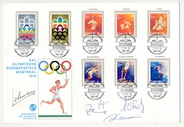 CANADA - 1 Enveloppe Commémorative - XXI Jeux Olympiques D'été - Stade Olympique - 8 Timbres 1976 - 1952-.... Règne D'Elizabeth II
